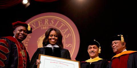 Smile, Event, Academic dress, Scholar, Graduation, Headgear, Award, Academic certificate, Award ceremony, Ceremony,