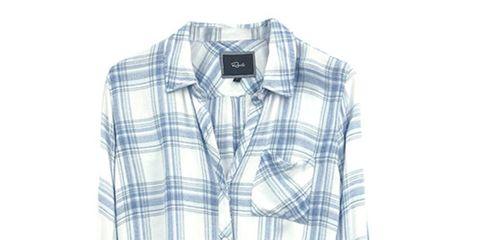 Clothing, Product, Dress shirt, Collar, Sleeve, Pattern, Plaid, Textile, White, Tartan,