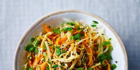 Food, Cuisine, Ingredient, Dish, Recipe, Chinese noodles, Noodle, Dishware, Garnish, Serveware,