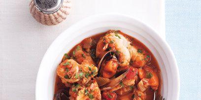 Food, Ingredient, Seafood, Dish, Recipe, Dishware, Stew, Meat, Cuisine, Kitchen utensil,
