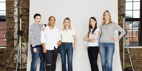 Clothing, Product, Denim, Trousers, Jeans, Social group, Textile, Shirt, Outerwear, Standing,