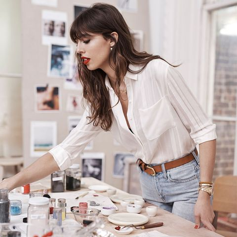 Clothing, White, Beauty, Shoulder, Sleeve, Neck, Outerwear, Top, Blouse, Shirt,