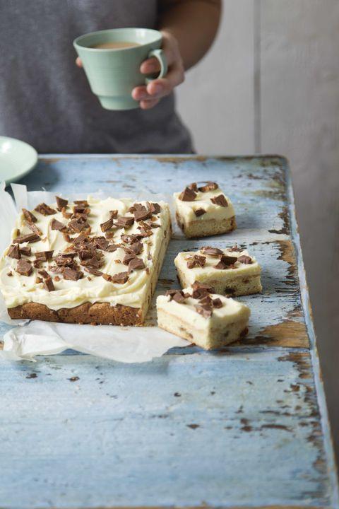 Daim and white chocolate traybake recipe