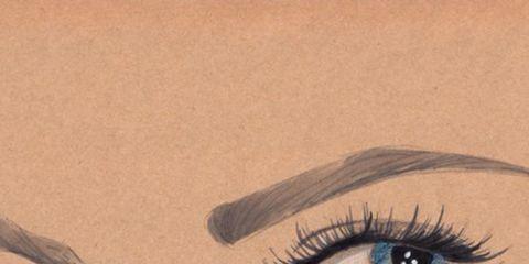 Brown, Eyelash, Eyebrow, Colorfulness, Iris, Aqua, Teal, Paint, Organ, Violet,