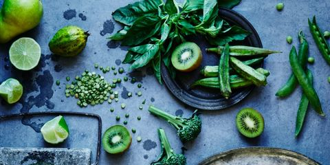 Green, Produce, Natural foods, Whole food, Still life photography, Vegetable,