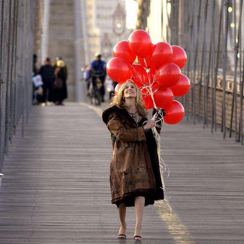 Red, Photograph, Snapshot, Standing, Balloon, Umbrella, Headgear, Architecture, Street, Photography,