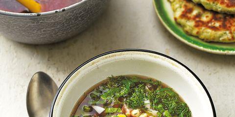 Food, Ingredient, Cuisine, Dish, Recipe, Tableware, Soup, Meal, Bowl, Kitchen utensil,