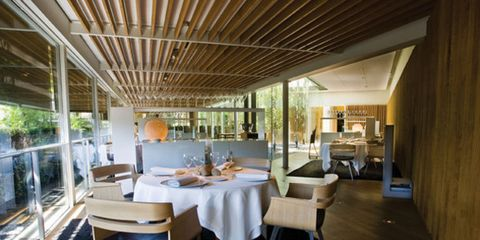 Floor, Table, Interior design, Furniture, Flooring, Ceiling, Room, Real estate, Glass, Chair,