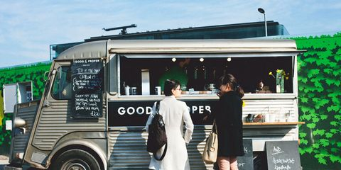 Food truck, Truck, Commercial vehicle, Grille, Citroën h van, Light commercial vehicle,