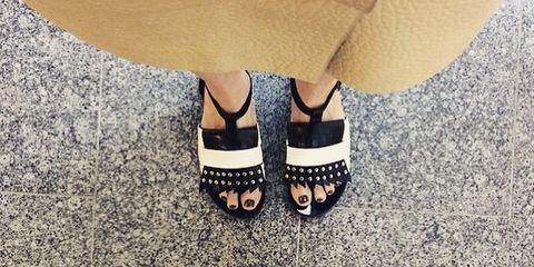 Footwear, Human, Leg, Shoe, Human leg, Joint, White, Style, People in nature, Fashion,