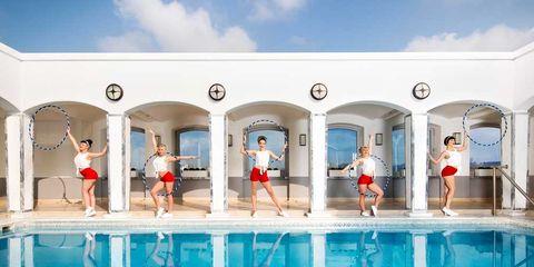 Fun, Recreation, Leisure, Red, Swimming pool, Summer, Aqua, Tourism, Vacation, Azure,