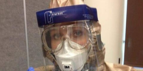 Personal protective equipment, Safety glove, Glove, Workwear, Service, Mask, Gas mask, Hazmat suit, Plastic, Space,