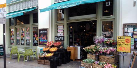 Retail, Flowerpot, Trade, Marketplace, Market, Door, Whole food, Floristry, Natural foods, Houseplant,