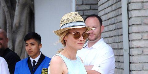 Eyewear, Vision care, Hat, Shirt, Sunglasses, Fashion accessory, Interaction, Sun hat, Brick, Street fashion,