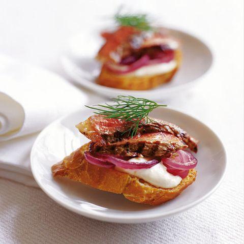 Dish, Food, Cuisine, Ingredient, Produce, Staple food, Baked goods, Bruschetta, appetizer, Hors d'oeuvre,