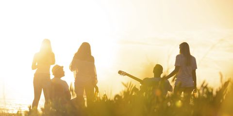 People in nature, Backlighting, Sunlight, Morning, Sunrise, Silhouette, Heat, Adventure, Sunset,