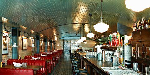 Lighting, Ceiling, Interior design, Barware, Light fixture, Restaurant, Bottle, Hall, Drinking establishment, Tavern,