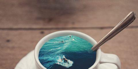 Serveware, Dishware, Drinkware, Cup, Teal, Aqua, Turquoise, Azure, Ingredient, Drink,