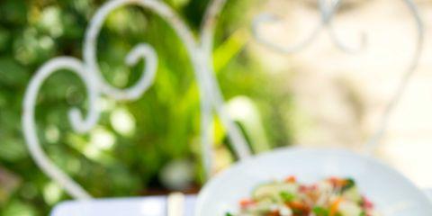 Dishware, Cuisine, Food, Salad, Tableware, Serveware, Cutlery, Plate, Vegetable, Dish,