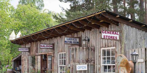 Wood, Plant, Rural area, Hardwood, Door, Village, Log cabin, Rust, Lumber, Shack,