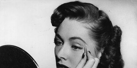 Lip, Hairstyle, Eyebrow, Hand, Eyelash, Style, Wrist, Monochrome, Monochrome photography, Photography,