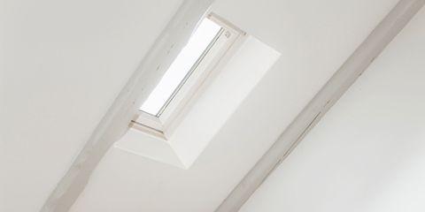 White, Room, Furniture, Interior design, Property, Ceiling, Floor, Attic, House, Daylighting,