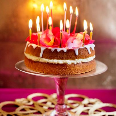 Remarkable Rose And Almond Cake Easy Cake Recipes Funny Birthday Cards Online Inifodamsfinfo
