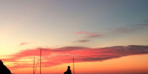 Sky, Afterglow, Sunset, Horizon, Sea, Sunrise, Dusk, Evening, Boat, Calm,