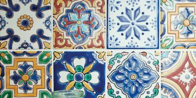 Serveware, Ingredient, Pattern, Produce, Dishware, Art, Porcelain, Ceramic, Majorelle blue, Drinkware,