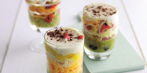 Food, Cuisine, Glass, Ingredient, Drinkware, Dessert, Dairy, Dish, Parfait, Frozen dessert,