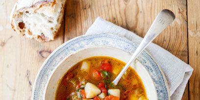 Food, Wood, Ingredient, Dish, Produce, Soup, Cuisine, Recipe, Stew, Kitchen utensil,