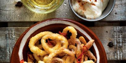 Food, Cuisine, Photograph, Dish, Ingredient, Fried food, Cooking, Recipe, Breakfast, Onion ring,