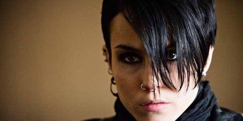 Hairstyle, Eyebrow, Style, Black hair, Eyelash, Fashion, Costume, Bangs, Photography, Portrait photography,