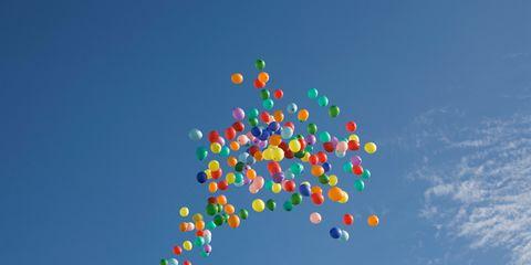 Balloon, Sky, Party supply,