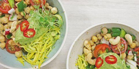 Food, Cuisine, Produce, Ingredient, Vegetable, Tableware, Food group, Pasta, Bowl, Dish,