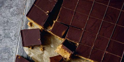 Brown, Tan, Natural material, Square, Leather,
