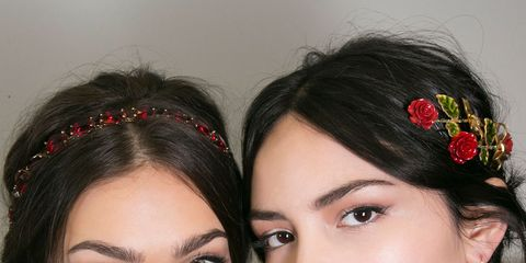 Lip, Hairstyle, Chin, Forehead, Eyebrow, Eyelash, Hair accessory, Style, Fashion accessory, Eye shadow,