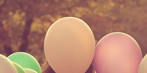 Party supply, Balloon, Pink, Magenta, Colorfulness, Party, Peach,