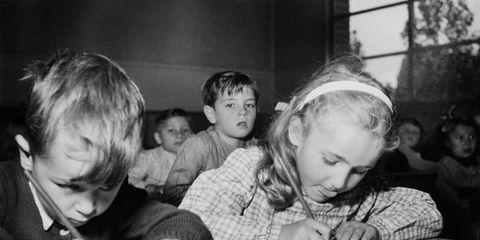 Face, Head, People, Photograph, Child, Monochrome, Table, Style, Sharing, Monochrome photography,