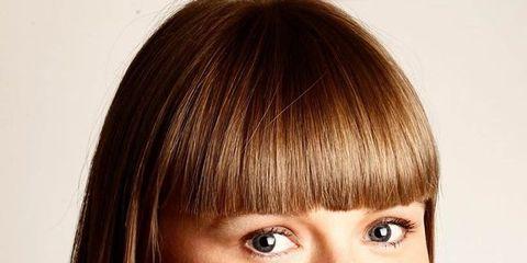 Hair, Lip, Mouth, Cheek, Hairstyle, Chin, Forehead, Eyebrow, Bangs, Collar,