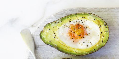 Egg yolk, Food, Egg white, Ingredient, Egg, Breakfast, Finger food, Dish, Kitchen utensil, Boiled egg,