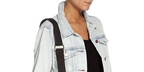 Clothing, Blue, Denim, Sleeve, Collar, Shoulder, Jeans, Textile, Pocket, Joint,