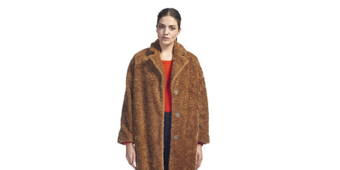 Sleeve, Textile, Collar, Standing, Style, Street fashion, Jacket, Knee, Beige, Fur,