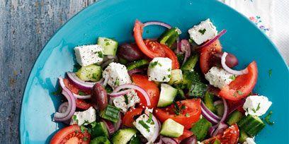 Food, Vegetable, Salad, Produce, Tomato, Dishware, Plate, Recipe, Cuisine, Ingredient,