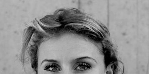 Face, Nose, Ear, Hairstyle, Chin, Forehead, Jewellery, Eyebrow, Photograph, White,