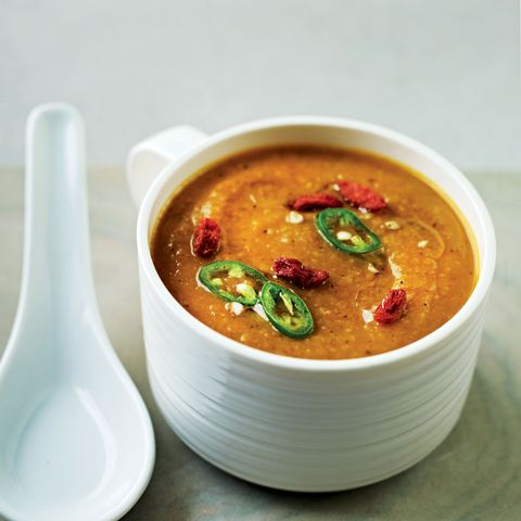 Dish, Food, Cuisine, Ingredient, Red curry, Gazpacho, Curry, Soup, Carrot and red lentil soup, Gravy,