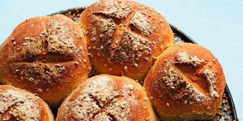 Food, Bread, Baked goods, Cuisine, Ingredient, Snack, Gluten, Staple food, Recipe, Baking,