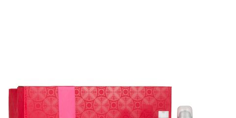 Liquid, Red, Bottle, Beauty, Tints and shades, Peach, Cosmetics, Present, Rectangle, Ribbon,
