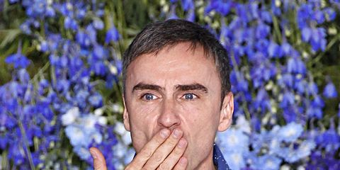 Ear, Blue, Dress shirt, Shirt, Majorelle blue, People in nature, Collar, Electric blue, Groundcover, Cobalt blue,