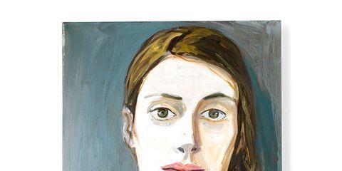 Lip, Cheek, Hairstyle, Eyebrow, Jaw, Self-portrait, Art, Paint, Neck, Artwork,